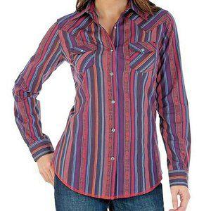WRANGLER S L NWT Western Purple Serape Shirt Rodeo
